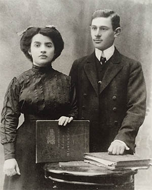 Chaim Orzynski and his wife Ewa Wajskopf